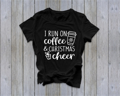 Coffee and Christmas Cheer - Tee  - Ruffles with Love - Tee