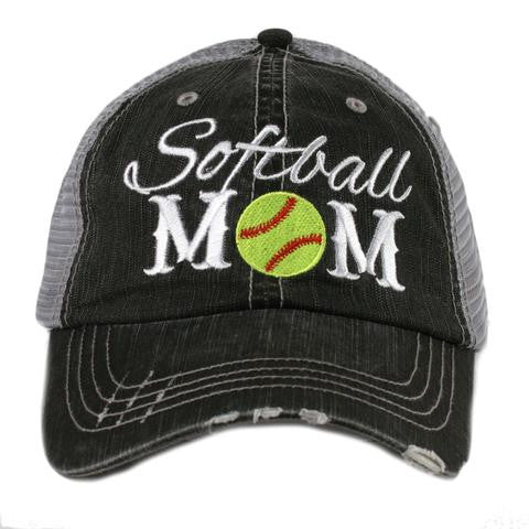 Softball Mom - HAT - Ruffles with Love - RWL