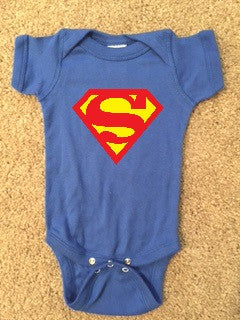 Superman Onesie - Boy Onesie - Childrens Clothing  - Ruffles with Love - Baby Clothing - RWL Kids
