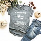 It Takes Two to Make a Day go Right  - Ruffles with Love - Tee