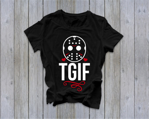 TGIF - Jason- Friday the 13th  - Ruffles with Love - Tee