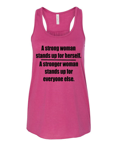 WWOW - A Strong Woman Stands Up For Everyone Else - Ruffles with Love - Inspirational Shirt - RWL
