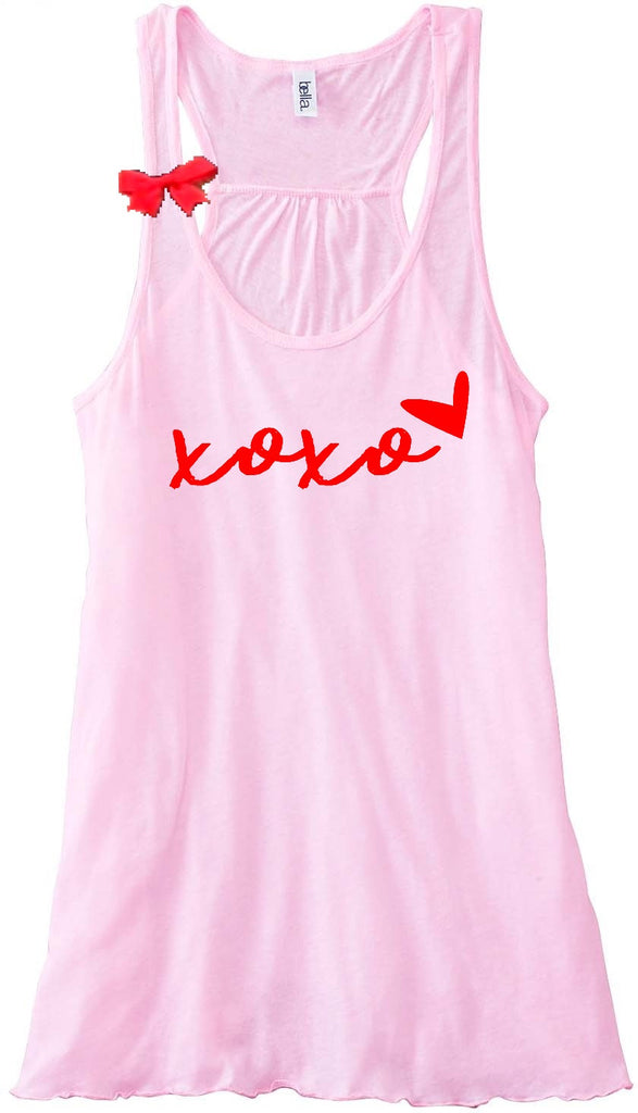 xoxo - Valentines Day - Ruffles with Love - Racerback Tank - Womens Fitness - Workout Clothing