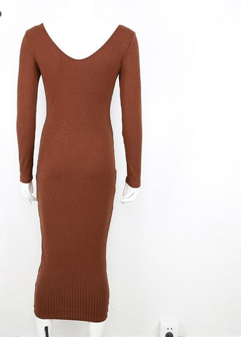 Knitted Sweater Stretchy  Dress