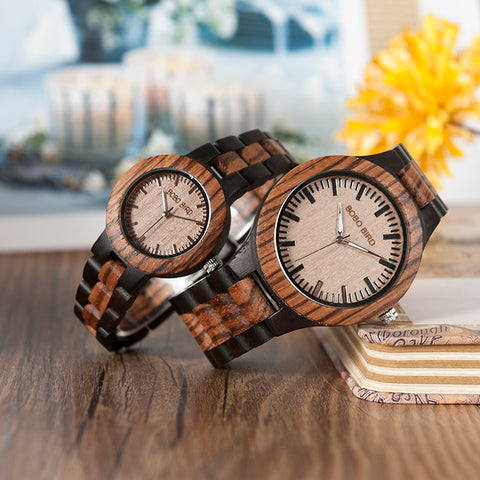 Matching Couples Bamboo Watch