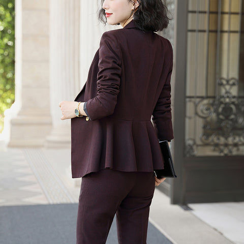 Two Piece Set Formal Pant Suit