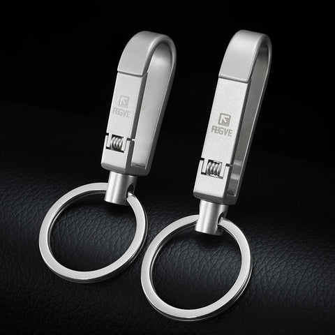 High-Quality 304 Stainless Steel Mens Keychain