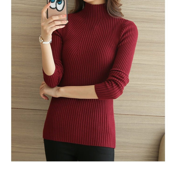 Womens Knitted Pullovers Long Sleeve