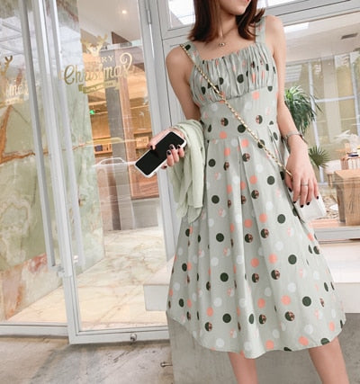 Beach Dress High Waist Mid-length Dress