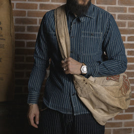 Denim Striped Heritage Cotton Work Shirt