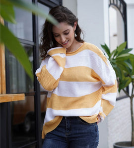Striped Loose Fitting Comfy Sweater