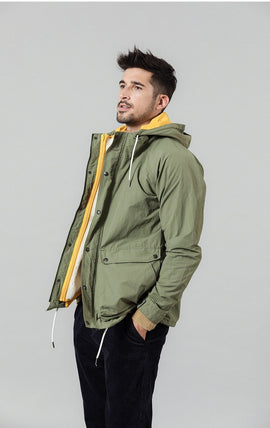Men's Hooded Jacket With Removable Vest