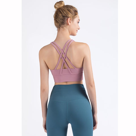 Breathable Solid Color Sports Wear Yoga Tops