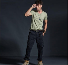 Tactical Mens Cotton Multi-Pocket Cargo Pants