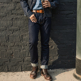 Selvedge Denim Slim Fit Dark Blue Jeans