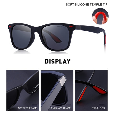 Unisex Classic Retro Rivet Polarized Sunglasses 100% UV Protection