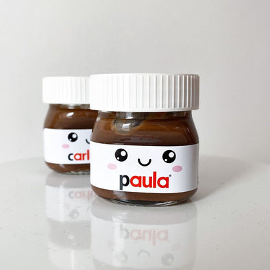 Mini nutella personalizada
