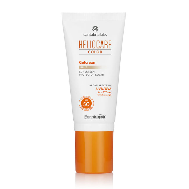Color Gel Cream Light Crema Viso Solare Colorata Protettiva con SPF50 da 50ml per Pelle Chiara, Heliocare