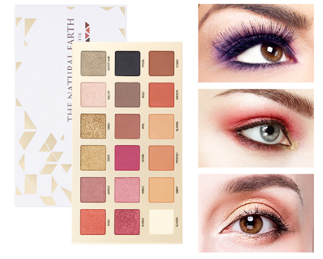 18 Colors Matte & Shimmer shades Pigment Smoky Eyeshadow Palette