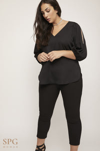 SPG WOMAN Blusa Lisa Strass