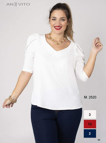ANVITO Blusa pliegues