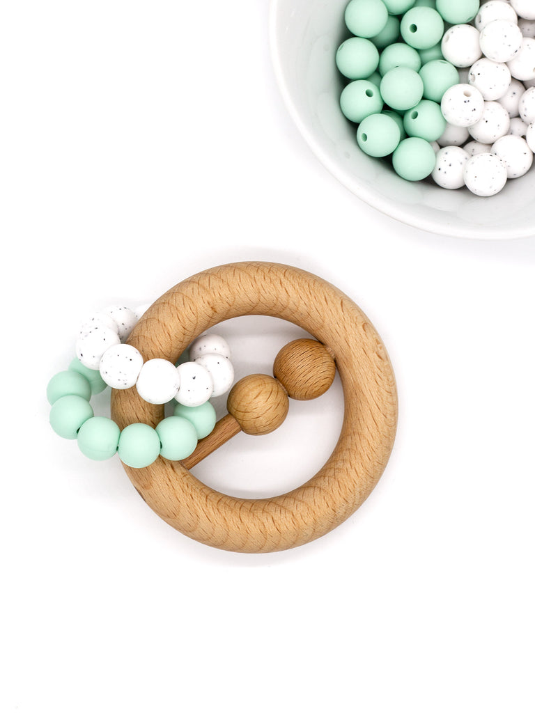 Beißring Rattle || Greifling Dotted mint