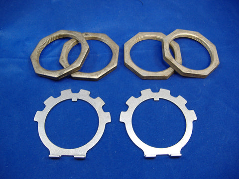 SPINDLE NUT AND LOCK WASHER SET, PAIR, FOR M35A2 - M35A3