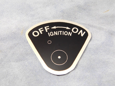IGNITION ON-OFF DATA PLATE