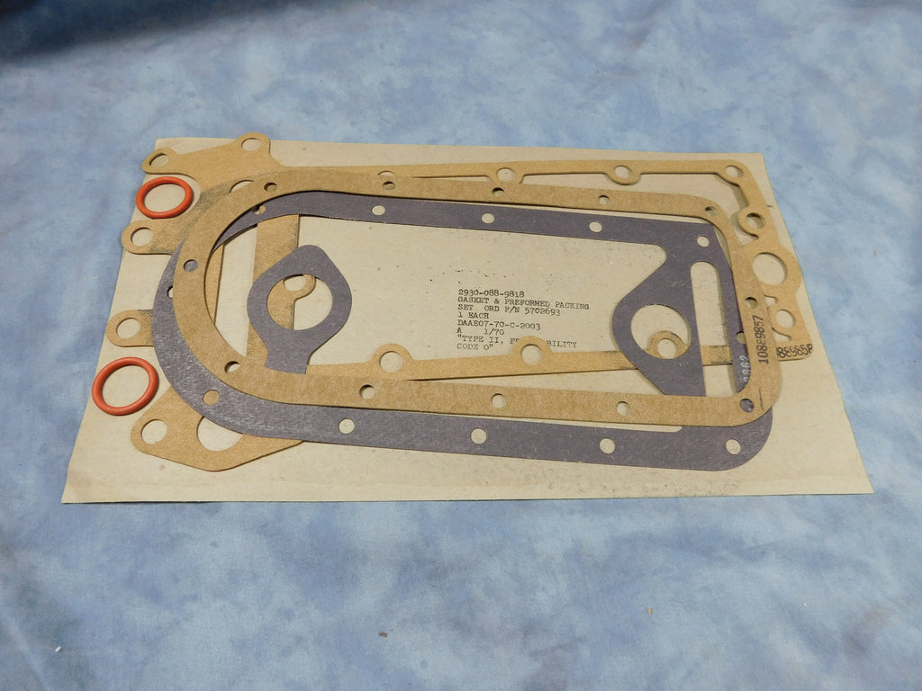 M35A2 OIL COOLER GASKET, MULTIFUEL OIL COOLER GASKET, LDT OIL COOLER, PART # 5702693 NSN 5330-00-088-9818,  5330000889818