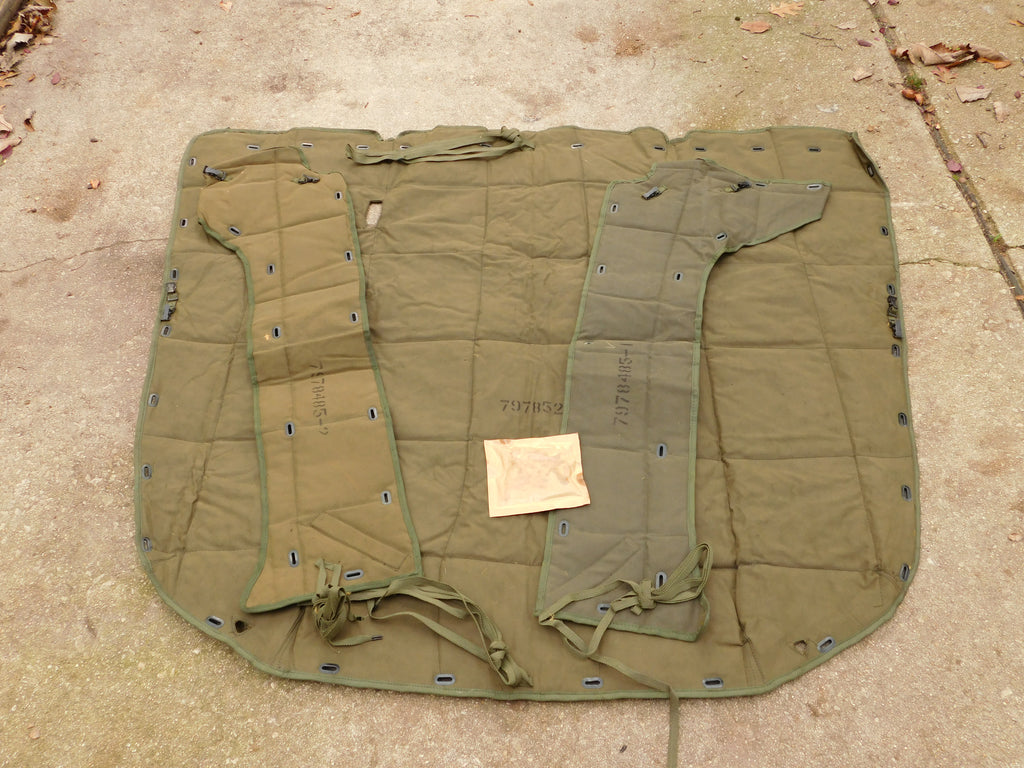 PART # 10896517 NSN 2540-00-455-1354 M35A2 ARCTIC HOOD BLANKET AND SIDE PANEL COVER SET