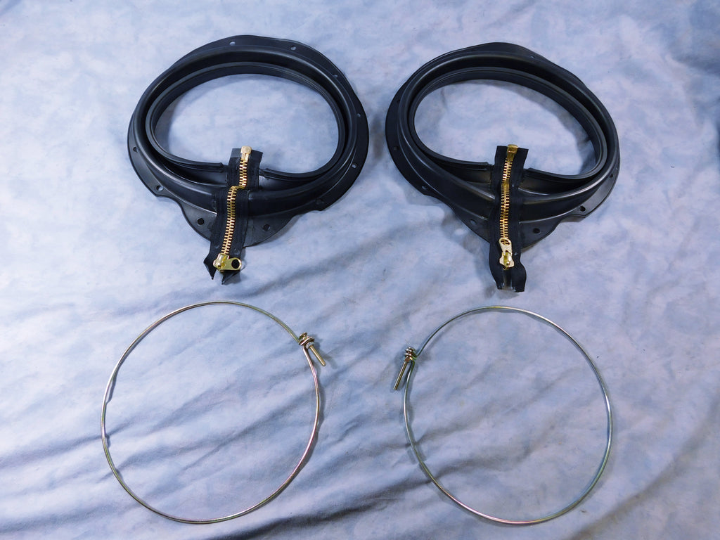 TWO 5 TON GOLD ZIPPER BOOTS w/CLAMPS FOR M54 – M809- -M939 7346994 7346976