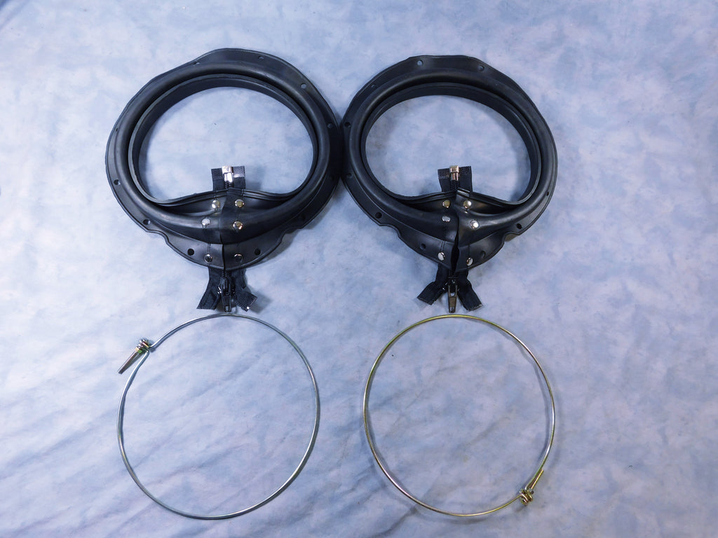 TWO 5 TON BLACK ZIPPER BOOTS w/CLAMPS FOR M54 – M809- -M939 7346994 7346976