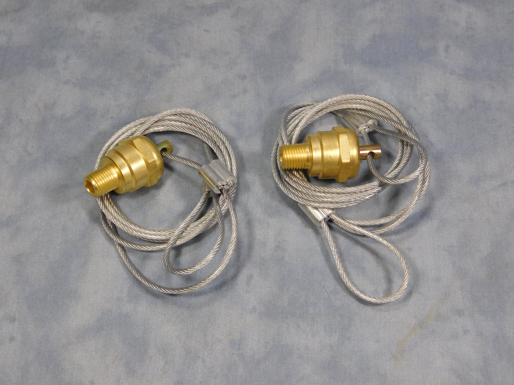 CABLE OPERATED AIR TANK DRAIN VALVE SET OF TWO