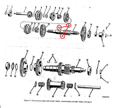 OUTPUT SHAFT WOODRUFF KEY FOR 2.5 TON MANUAL TRANSMISSIONS.  SEE #16 IN THE DIAGRAM.  MAY BE USED IN OTHER VEHICLES ALSO, BUT CONFIRM THIS IN THE TM BEFORE ORDERING, OR ASK ME AND I CAN LOOK INTO IT FOR YOU.  I CAN LOCATE JUST ABOUT ANY TRANSMISSION INTERNAL ITEM YOU MAY NEED. EMAIL ME IF THERE IS OTHER TRANS PARTS YOU ARE LOOKING FOR THAT I DO NOT HAVE LISTED HERE.  PART # MS35756-17 NSN 5315-00-012-4553, 5315000124553, MS21261-R808, 102514, 6J808, 1B8714, 5018