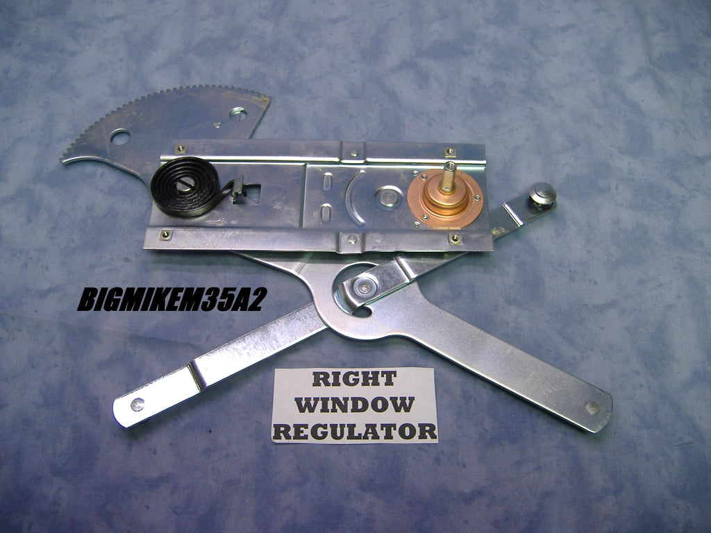 RIGHT SIDE WINDOW REGULATOR PART NUMBER 7373290 NSN 2540006930603 OTHER NUMBERS INCLUDE KC6676, 101081R91.