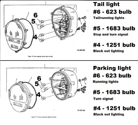 BULB POSITION REFERENCE GUIDE