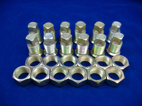 LEFT HAND INNER AND OUTER LUG NUTS FOR DUAL REAR WHEELS, SET OF TWELVE, M35-M54-M809-M939