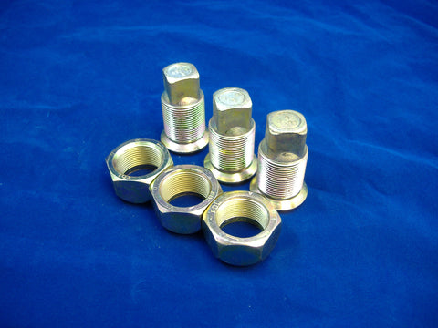 LEFT HAND INNER AND OUTER LUG NUTS FOR DUAL REAR WHEELS, SET OF THREE, M35-M54-M809-M939