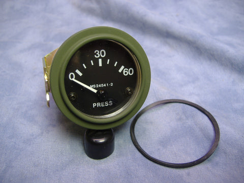 OIL PRESSURE GAUGE, 0-60 PSI, MS24541-2