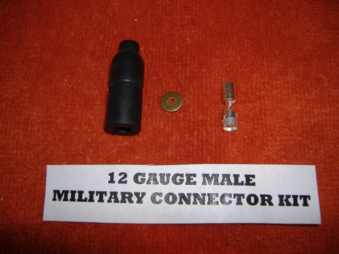 "12 GAUGE MILITARY MALE ""PACKARD"" WIRE CONNECTOR MS27143-1"