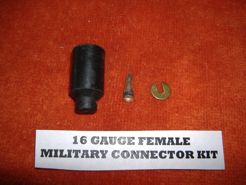 "16 GAUGE MILITARY FEMALE ""PACKARD"" WIRE CONNECTOR MS27142-3"