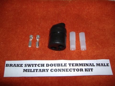 DOUBLE CONTACT CONNECTOR FOR MILITARY BRAKE SWITCH, START SWITCH, FUEL PUMP, ETC MS27145-1.
