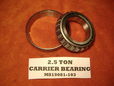 DIFFERENTIAL CARRIER BEARING FOR M35A2 - M35A3 MS19081-103