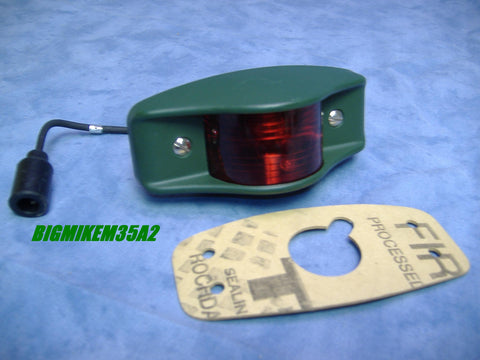 RED SIDE MARKER LIGHT M35A2 M35A3 M54 M809 M939 7261919-1 - MS35423-2