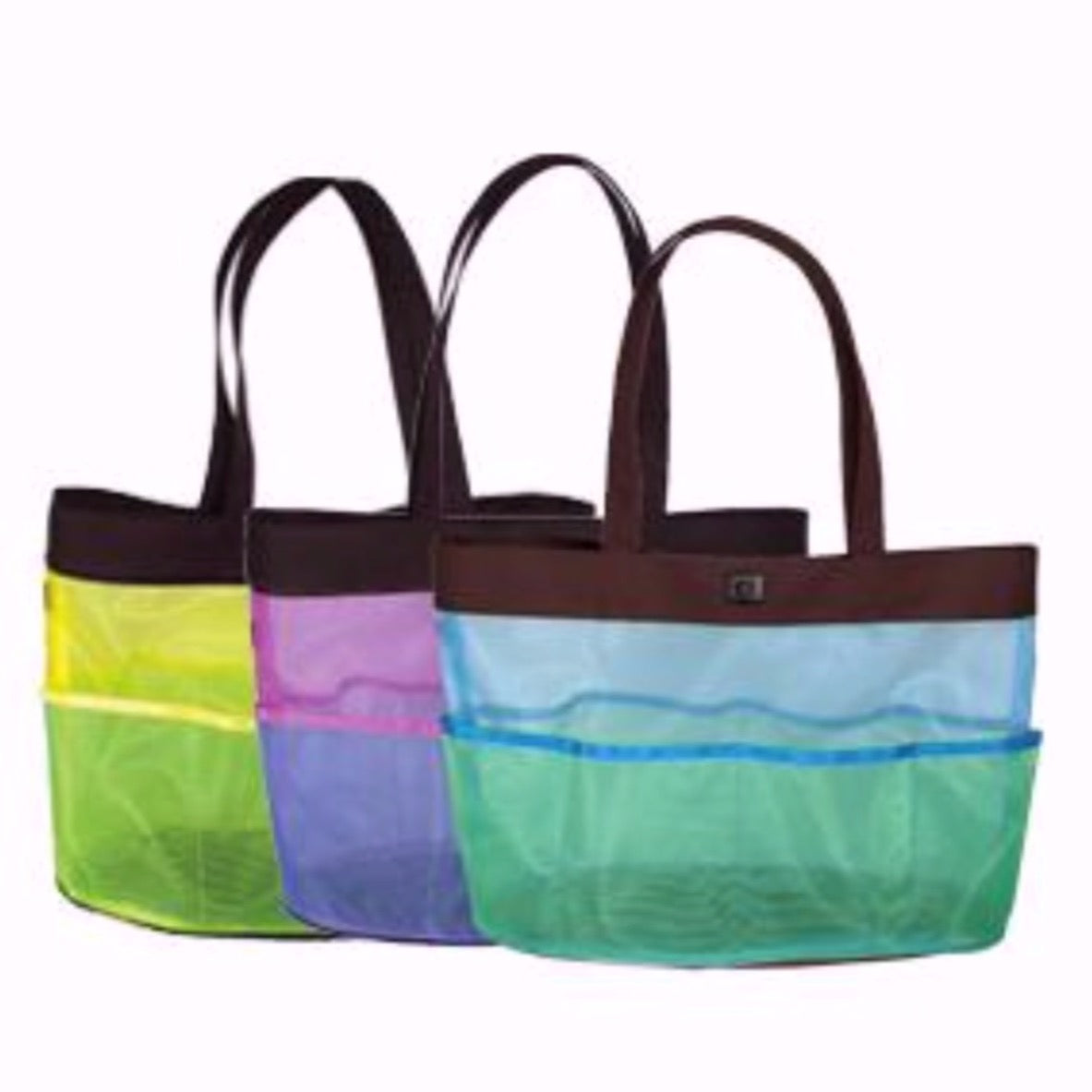 Duck & Mesh Utility Tote w/6 Pockets