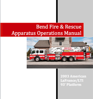 351 Aerial Apparatus book and Ops Guide
