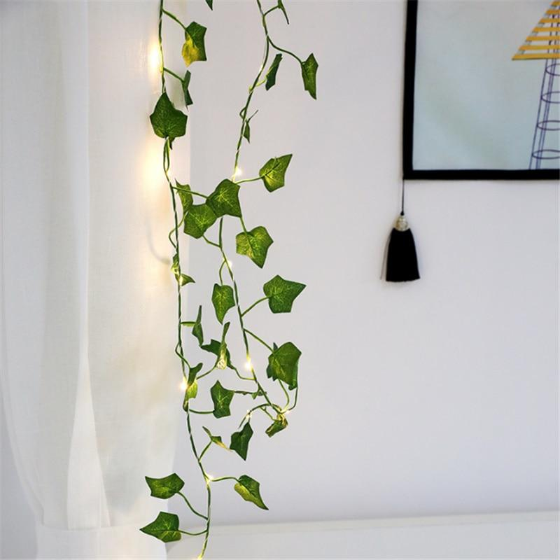 Copper Wire Leaf Lights