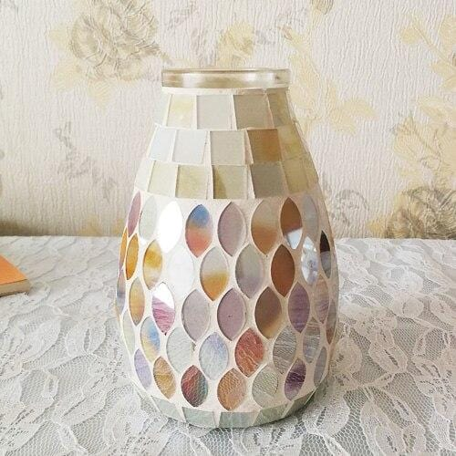 Mosaic Glass Vase