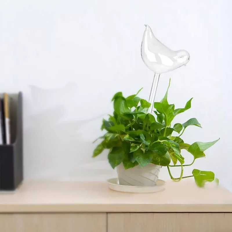 Self Watering Glass Bird