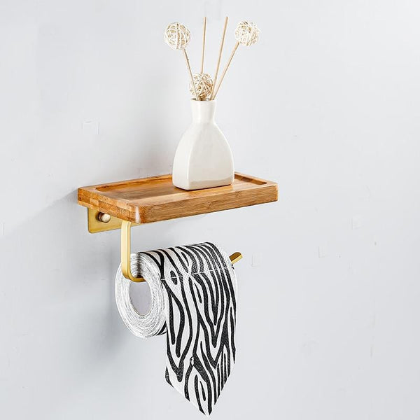 Bamboo Toilet Paper Shelf